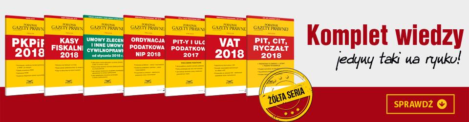pakiet żółtych książek 2018