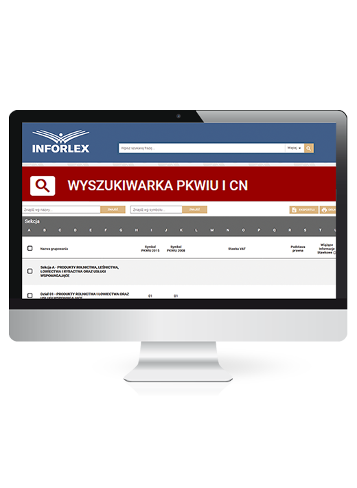 INFORLEX PKWiU + CN – program