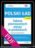 Polski Ład. Tabela planowanych zmian w podatkach (PDF)